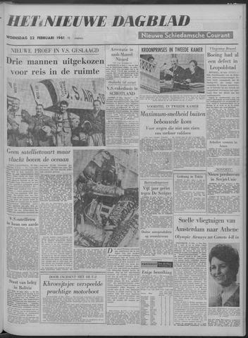 Nieuwe Schiedamsche Courant 1961-02-22