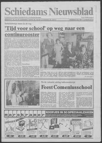 Schiedams Nieuwsblad 1982-07-07
