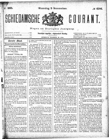 Schiedamsche Courant 1885-11-09
