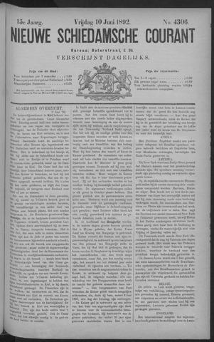 Nieuwe Schiedamsche Courant 1892-06-10
