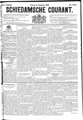 Schiedamsche Courant 1908-08-21
