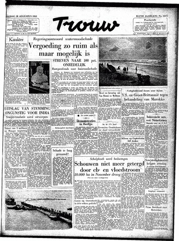 Trouw / De Rotterdammer 1953-08-28