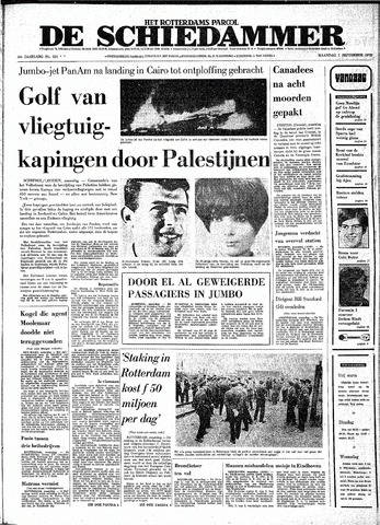 Rotterdamsch Parool / De Schiedammer 1970-09-07