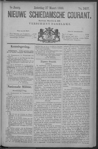 Nieuwe Schiedamsche Courant 1886-03-27