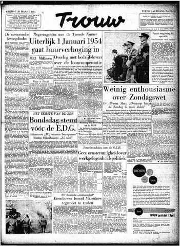 Trouw / De Rotterdammer 1953-03-20