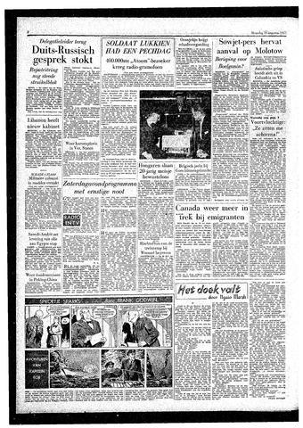 Rotterdamsch Parool / De Schiedammer 1957-08-19