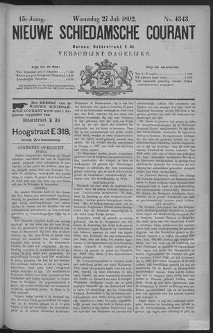 Nieuwe Schiedamsche Courant 1892-07-27