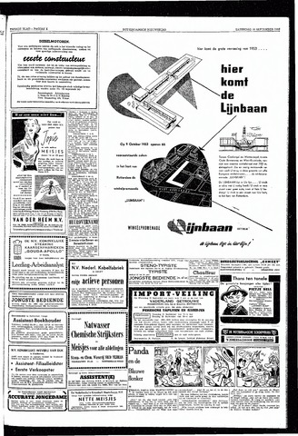 Rotterdamsch Nieuwsblad / Schiedamsche Courant / Rotterdams Dagblad / Waterweg / Algemeen Dagblad 1953-09-19