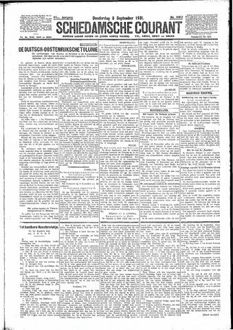 Schiedamsche Courant 1931-09-03