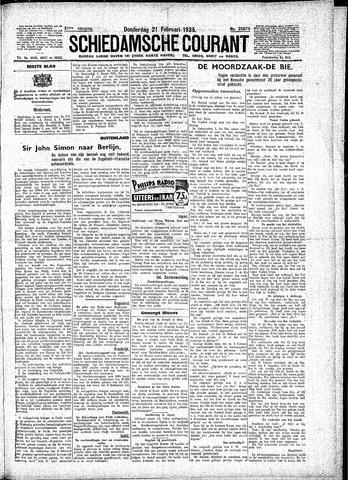Schiedamsche Courant 1935-02-21