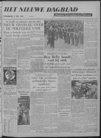 Nieuwe Schiedamsche Courant 1962-07-05