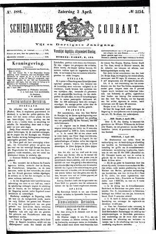 Schiedamsche Courant 1881-04-02
