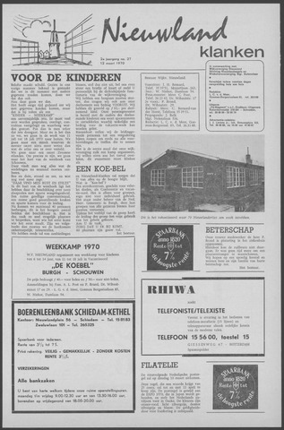 Nieuwland Klanken 1970-03-12