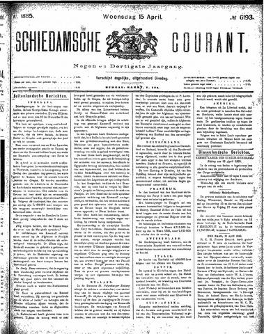 Schiedamsche Courant 1885-04-15