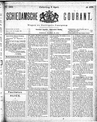 Schiedamsche Courant 1885-04-11