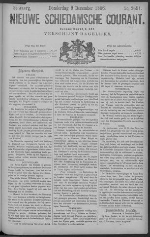 Nieuwe Schiedamsche Courant 1886-12-09