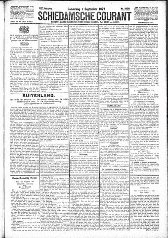 Schiedamsche Courant 1927-09-01