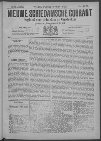 Nieuwe Schiedamsche Courant 1892-09-30