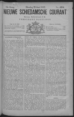 Nieuwe Schiedamsche Courant 1892-06-21
