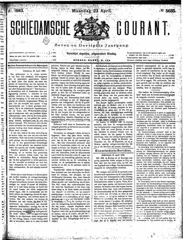 Schiedamsche Courant 1883-04-23