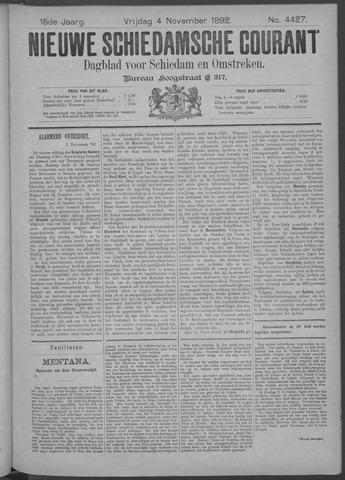 Nieuwe Schiedamsche Courant 1892-11-04