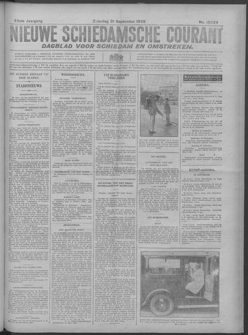 Nieuwe Schiedamsche Courant 1929-09-21