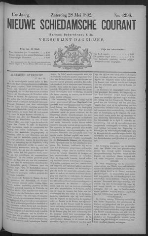 Nieuwe Schiedamsche Courant 1892-05-28