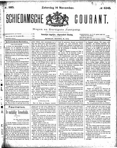 Schiedamsche Courant 1885-11-14