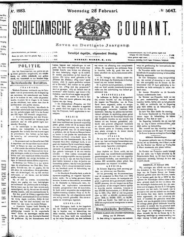 Schiedamsche Courant 1883-02-28