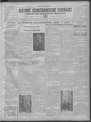 Nieuwe Schiedamsche Courant 1932-01-22