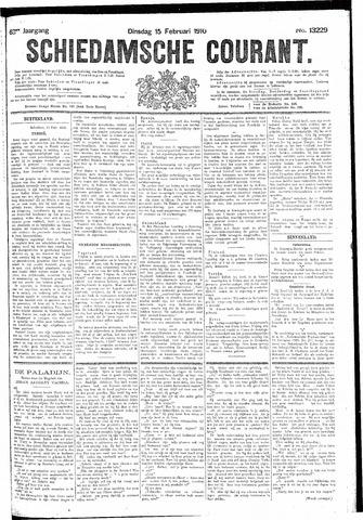 Schiedamsche Courant 1910-02-15