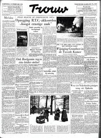 Trouw / De Rotterdammer 1956-02-22