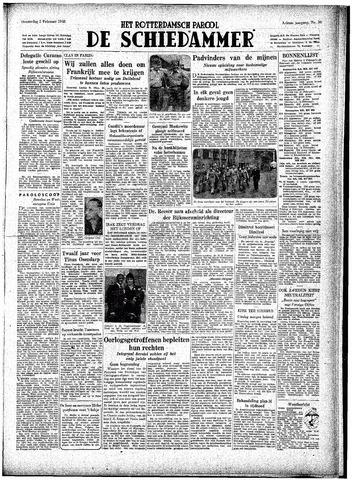 Rotterdamsch Parool / De Schiedammer 1948-02-05