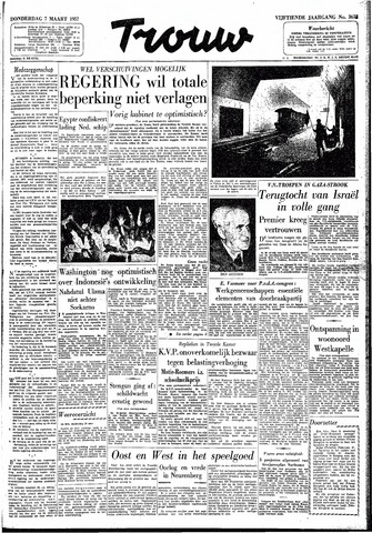 Trouw / De Rotterdammer 1957-03-07