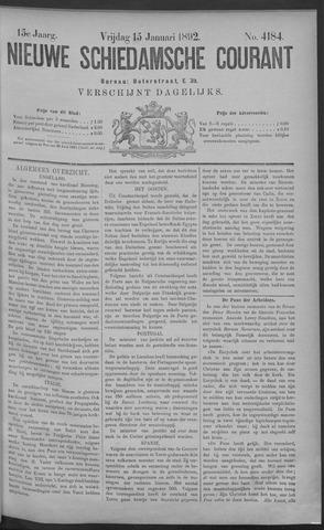 Nieuwe Schiedamsche Courant 1892-01-15
