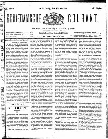 Schiedamsche Courant 1883-02-26