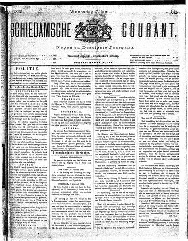 Schiedamsche Courant 1885-01-07