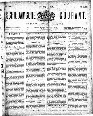 Schiedamsche Courant 1885-07-17