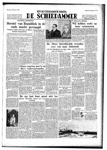 Rotterdamsch Parool / De Schiedammer 1949-01-24