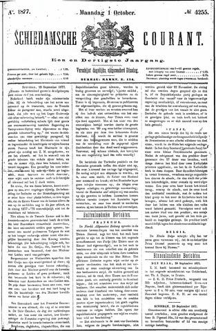 Schiedamsche Courant 1877-10-01
