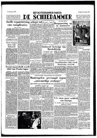 Rotterdamsch Parool / De Schiedammer 1949-11-08