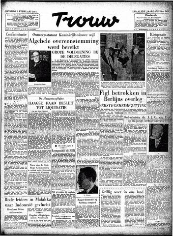Trouw / De Rotterdammer 1954-02-09