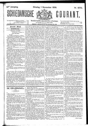 Schiedamsche Courant 1898-11-01