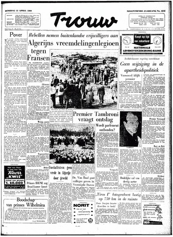 Trouw / De Rotterdammer 1960-04-12
