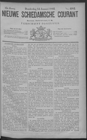 Nieuwe Schiedamsche Courant 1892-01-14