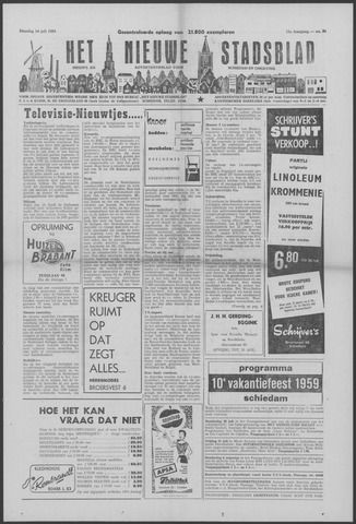 Het Nieuwe Stadsblad 1959-07-14