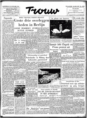 Trouw / De Rotterdammer 1954-01-23