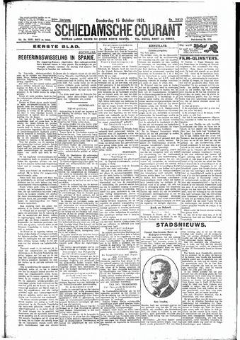 Schiedamsche Courant 1931-10-15