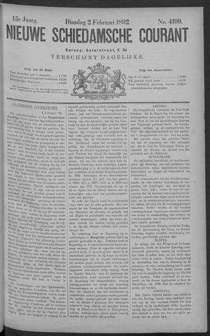 Nieuwe Schiedamsche Courant 1892-02-02