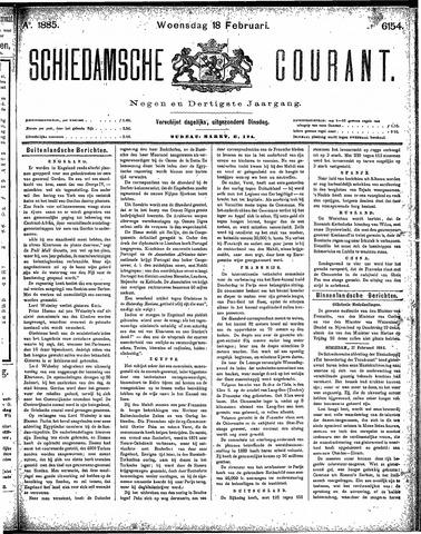 Schiedamsche Courant 1885-02-18